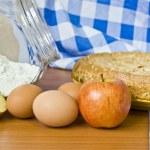 tarta de manzana y harina — Foto de Stock
