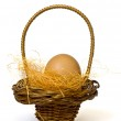 Basket with egg — Stock Photo