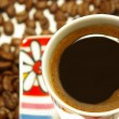Closeup cup of coffee — Stock Photo