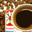Closeup cup of coffee — Lizenzfreies Foto