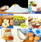 Desserts collage — Stock Photo