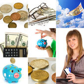 Money concept collage — Stockfoto