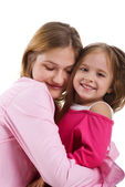 Pretty little girl and her mother — Stock Photo