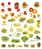 Vegetables and fruits collection — Stock Photo