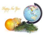 World globe and spheres — Stock Photo