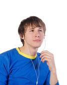 Os jovens ouvem a música — Fotografia Stock