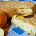 tarta de manzana y manzanas de alimentos — Foto de Stock
