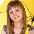 Beautiful woman with umbrella - Stok fotoraf