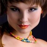 Beautiful young women close-up — Stock Photo