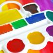Box of watercolors — Stock Photo