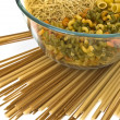 Stock Photo: Noodles bowl on a white