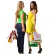Two women with bags — Stock Photo