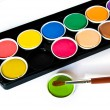 Watercolors on white background — Stock Photo