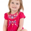 Well-dressed small girl isolated — Stock Photo #1128728