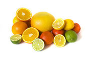 Grande variedade de frutas cítricas — Foto Stock