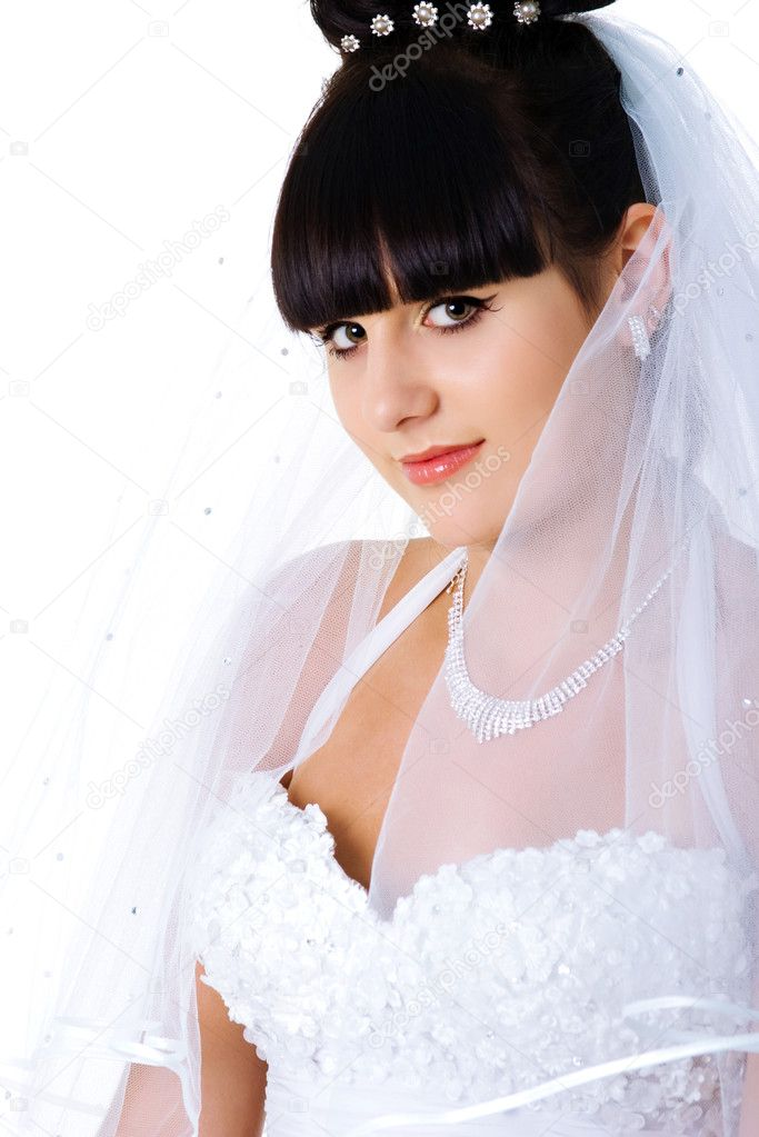 Vertical Portrait Of Pretty 14 Year Old Girl Stock Image: Vertical Portrait Of A Beautiful Bride