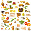 Royalty-Free Stock Photo: Large page of food assortment