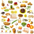 Stock Photo: Large page of food assortment