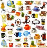 Duży zestaw napojów — Zdjęcie stockowe