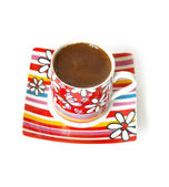 Bright cup of black coffee — Stock Photo
