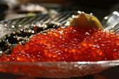 Red and black caviar — 图库照片