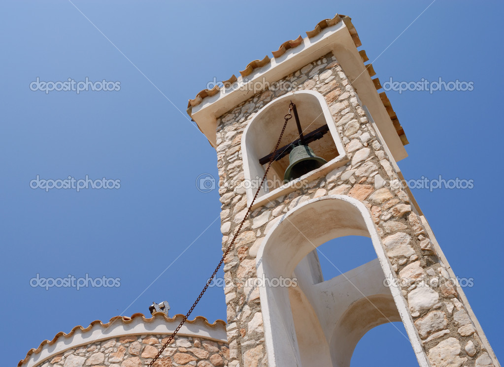 Bell tower of church in Protaras, Cyprus — Stock Photo #1141072