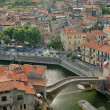 Stock Photo: View of medieval town in Italy