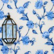 Lamp on vintage wallpaper — Stock Photo #1158466