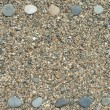 Frame made from beach pebbles — Stock Photo #1158994