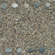 Frame made from beach pebbles — Stock Photo #1159009