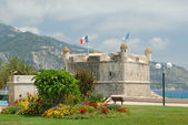 Bastion in port of Menton — Stock Photo