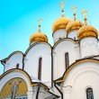 Gold domes of orthodox church — Stock Photo