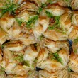 East sweets. Baklava background — Stock Photo