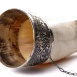 trinkhorn, isoliert auf weiss — Stockfoto
