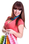 Beautiful young woman shopping — Stock Photo