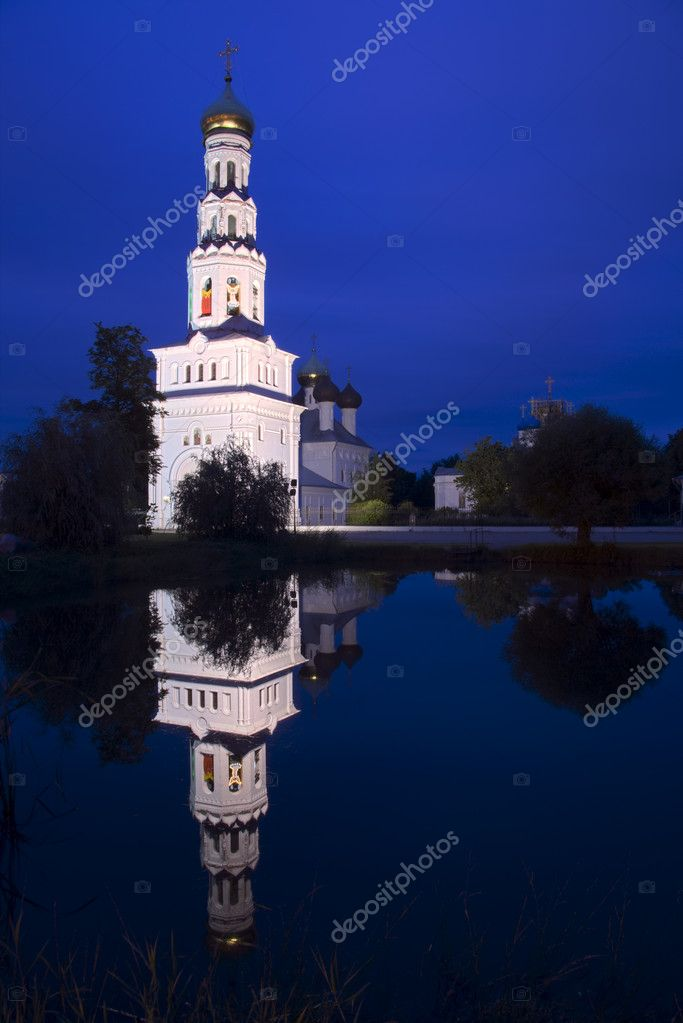 Russia. Church in Zavidovo. about 150 km from Moscow  Stock Photo #1160815