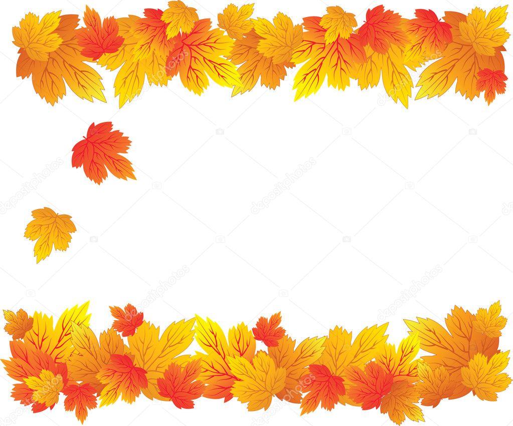 秋天的树叶图案