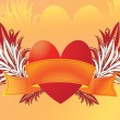 Royalty-Free Stock Imagen vectorial: Heart with ribbon