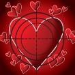 Royalty-Free Stock Imagen vectorial: Heart-target