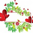 Frame with heart and flower — Vector de stock