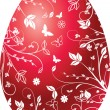 Easter red egg - Stock Vector