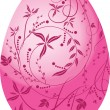 Stock Vector: Pink egg