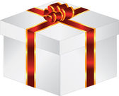 Gift box with bow — Stockvector