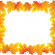 Frame with autumn plants — Stock Vector
