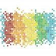 Mosaic rainbow — Stock Vector