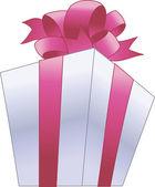 Boîte cadeau avec bow — Vecteur