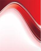 Röda våg bakgrund — Stockvektor