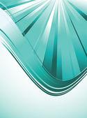 緑の波の背景 — ストックベクタ