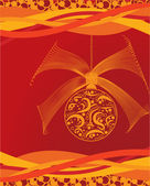 Orange christmas ball — Stock Vector