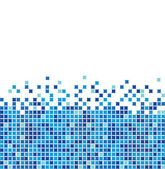 Blue mosaic — Stock Vector